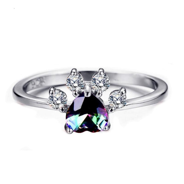 Cute Cat Dog Paw Ring