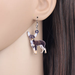 Cute Acrylic Chihuahua Dog Earrings