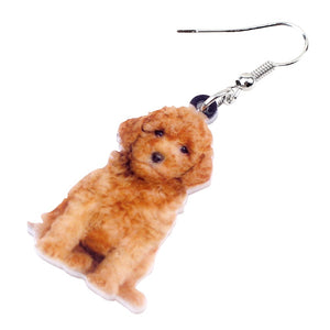 Lovely Teddy Dog Earrings