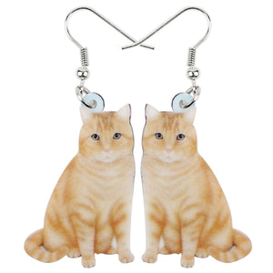 Cute Orange Cat Kitten Earrings