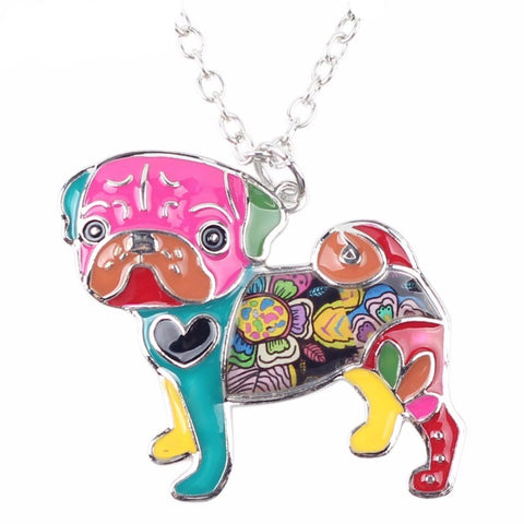 Cute Pug Women Necklace