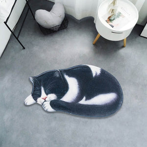 3D Cute Cat Floor Rug Doormat