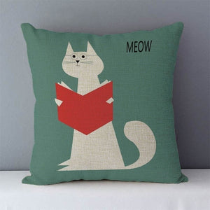 Cute Cats Pillow Case Cushion Cover
