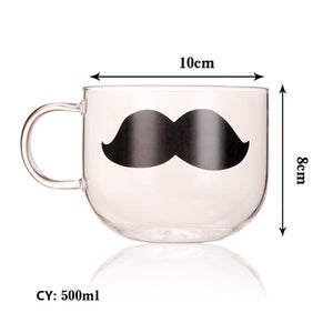 Creative Cat Animal Glass Coffee Mug