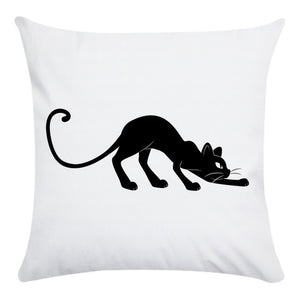 Cute Cartoon Black Cat Cushion Pillow Cover Case
