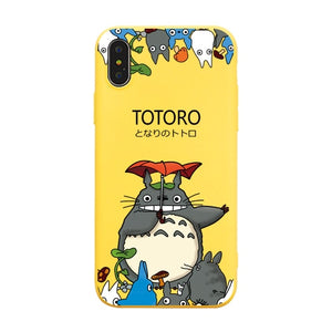 Cute Happy Totoro iPhone Cases