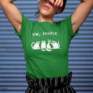 Funny Ew People Cat T-Shirt