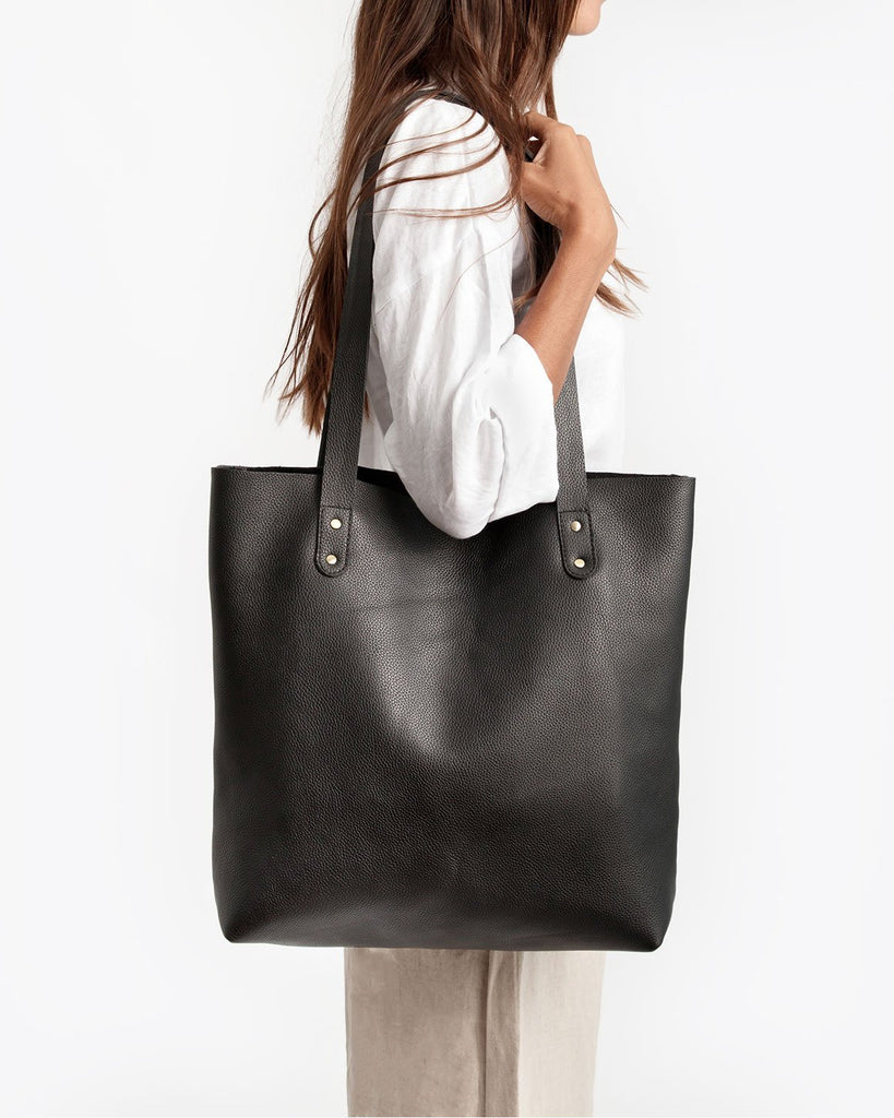 Everyday Leather Tote - Black - Liberté