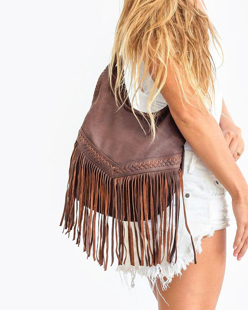 Fringe Bag - Brown - Liberté