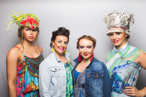 Vibrant cultural headpieces fashion industry event