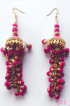 Pink Chandeliers Earrings