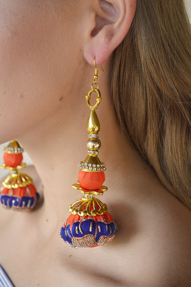 Majestic Orange Imperial Empress Earrings