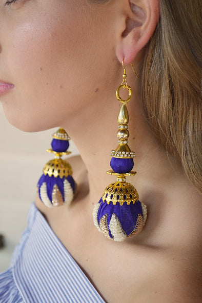 Majestic Blue Imperial Empress Earrings
