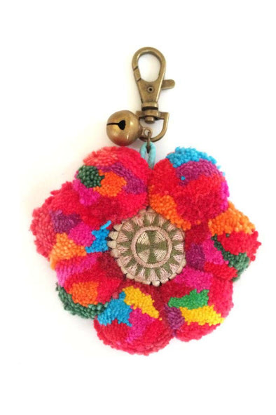 Pretty Flower Key Ring