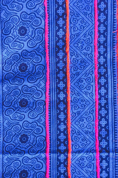 handprinted Batik Indigo Table Runner - 270cm OR 160cm Long
