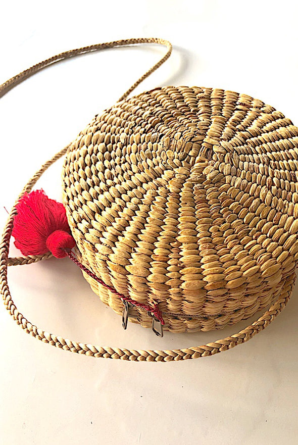 Tuscan Round Handcrafted Bag with Strap