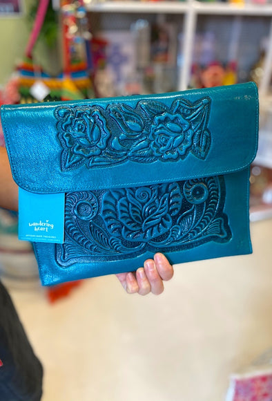 Mexican Analita Clutch in Teal