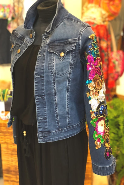 Florida Sequinned Sleeve Jacket