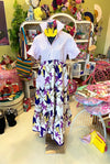 Ankara Shirt Dress - Lavender