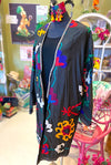 Suzani Coat in Black Magic