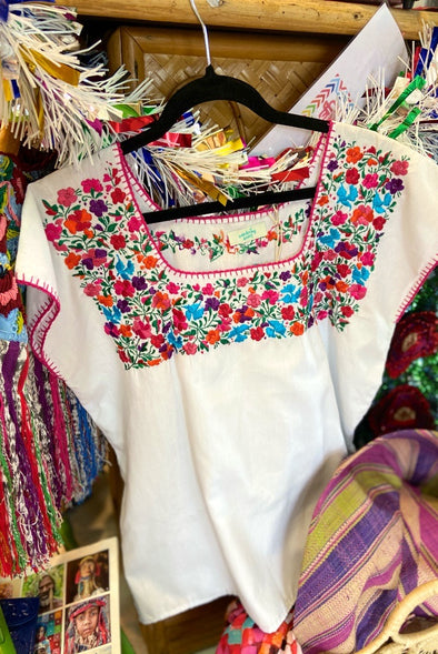 Mexican Floral Blouse