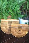 French Très Chic Bamboo Basket LARGE