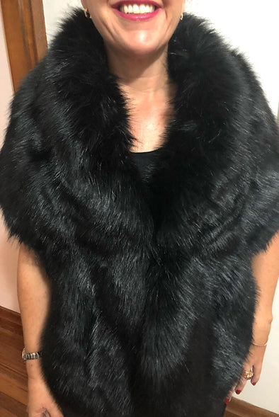 Boudoir Black Faux Fur Wrap
