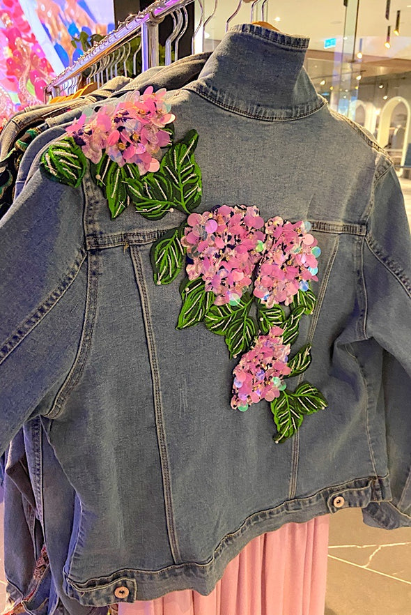 Hydrangeas Denim Jacket - SFH Original