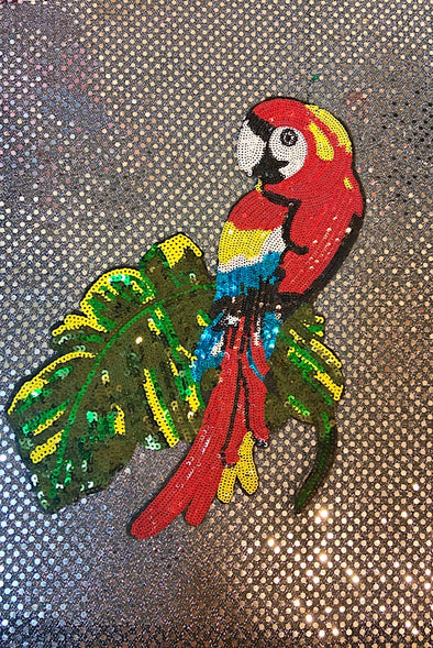 Sequinned Embellishment - Colourful Parrot