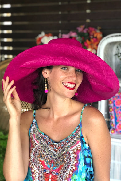 Made in Madagascar Hat -Hot Pink