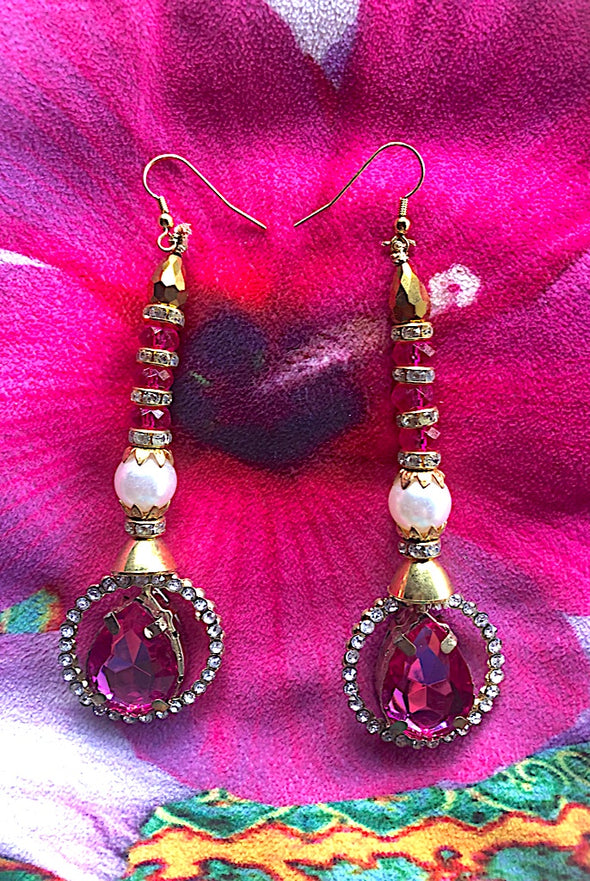 Dazzling Pink  - Gorgeous Glamour Earring Collection