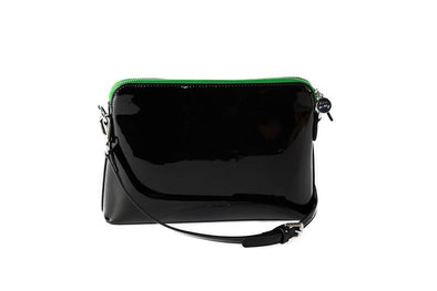 Ravello Bag in Black with Green zip - Liv & Milly