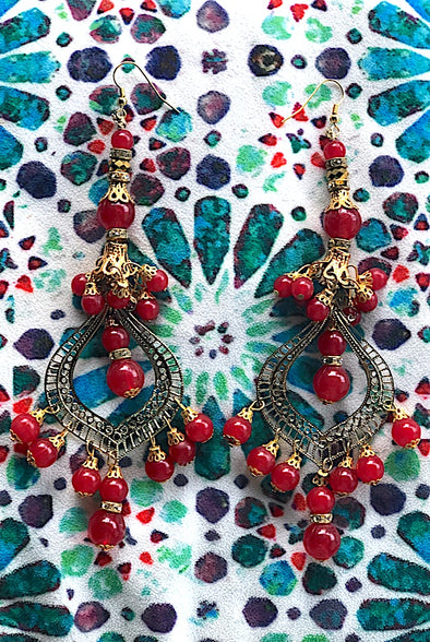 Magnificent Red - Gorgeous Glamour Earring Collection