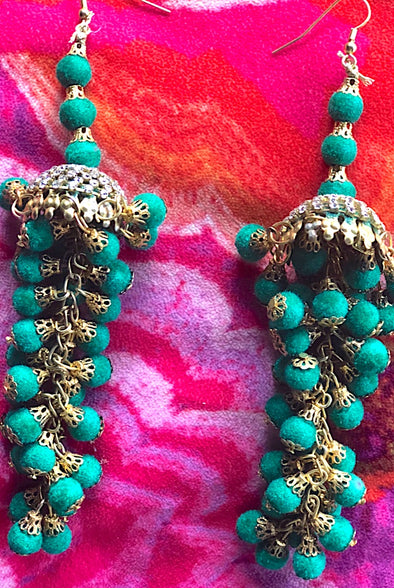 Green Chandeliers - Gorgeous Glamour Earring Collection
