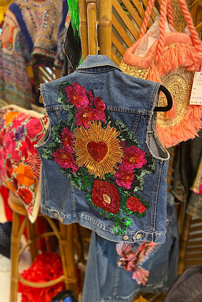 Sacred Heart Garden Custom Made Sleeveless Jacket