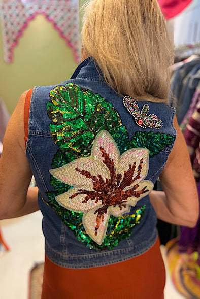 Butterfly Blossom Custom Made Sleeveless Jacket