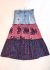 Ankara Skirt with Vintage Denim- SFH Designs Original
