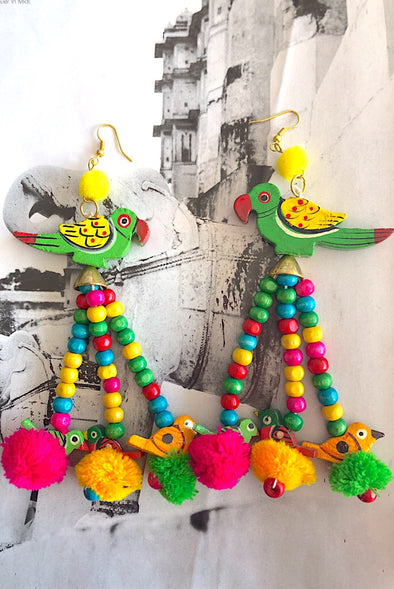 Exotic Dancing Parrots - The Immaculate Earring Collection