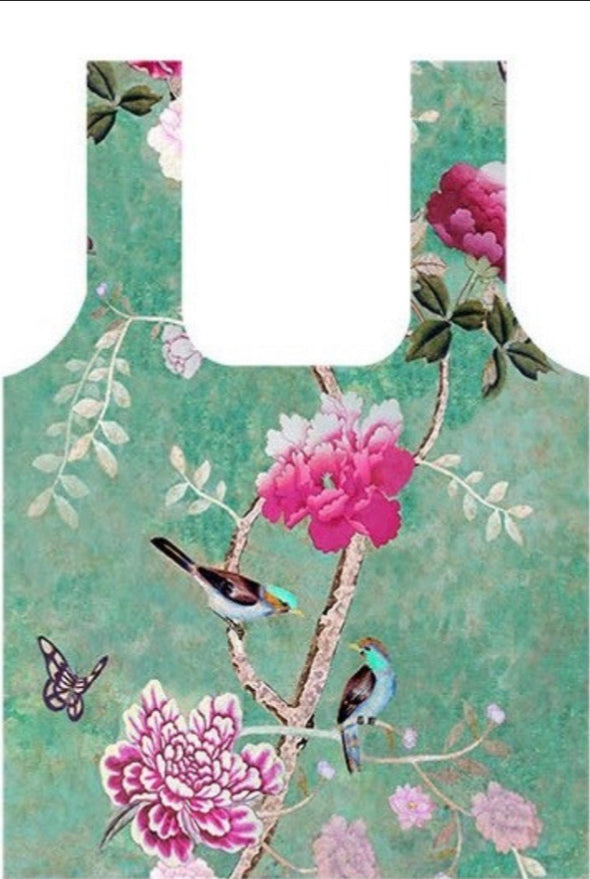 Chinoiserie Fold Up Shopping Bag