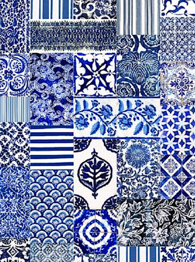 Indigo Tea Towel - Anna Chandler Design