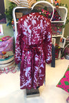 Paradiso Suzani Coat in Burgundy