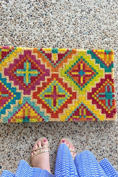 Diamond Cross - Coir Doormat