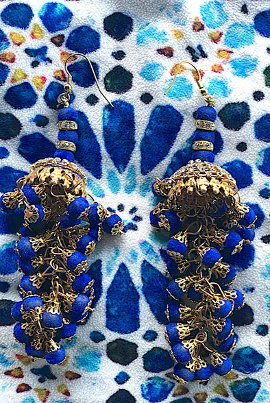 Blue Chandeliers - Gorgeous Glamour Earring Collection