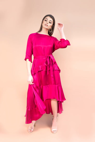 Lisa Dress in Pomegranate- Annanasa