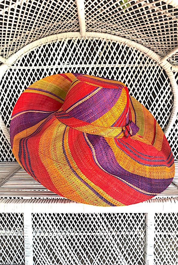Made in Madagascar Hat - Orange, Lime, Purple & Red