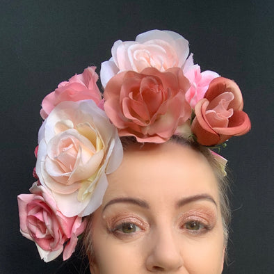 Light Pinks Headpiece by Flora Fascinata #63