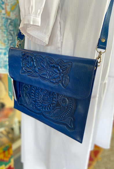 Mexican Analita Clutch in Beautiful Blue
