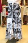 Black & White Ankara Ruffles Skirt - SFH Designs Orginal