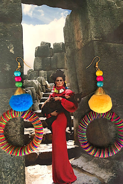 Machu Picchu - Peruvian Poms Earring Collection