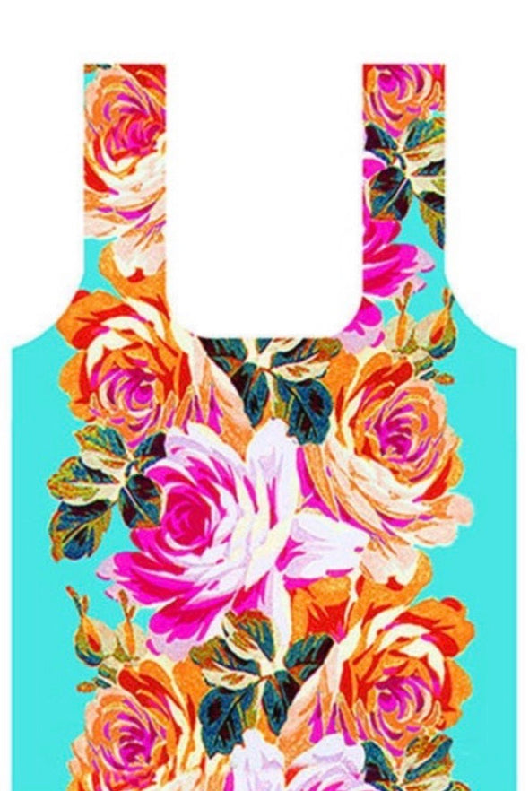 French Roses Fold Up Shopping Bag